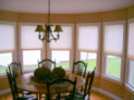 Cellular shades for windows in a Long Island home
